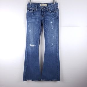BKE Star Flare Low Rise Distressed Jeans Size 25